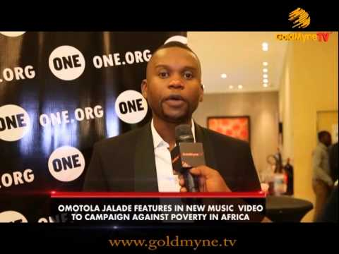 GOLDMYNETV: OMOTOLA JALADE,FEATURES IN NEW MUSIC VIDEO TO CAMPAIGN AGAINST POVERTY IN AFRICA