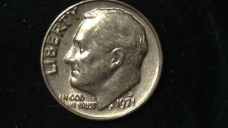 1971 D Roosevelt Dime (Mintage 378 Million)