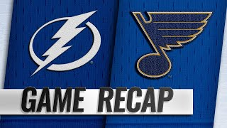 Blues top Lightning, 4-3, for third consecutive win