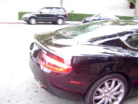 Aston Martin DB9 Engine Start  YouTube