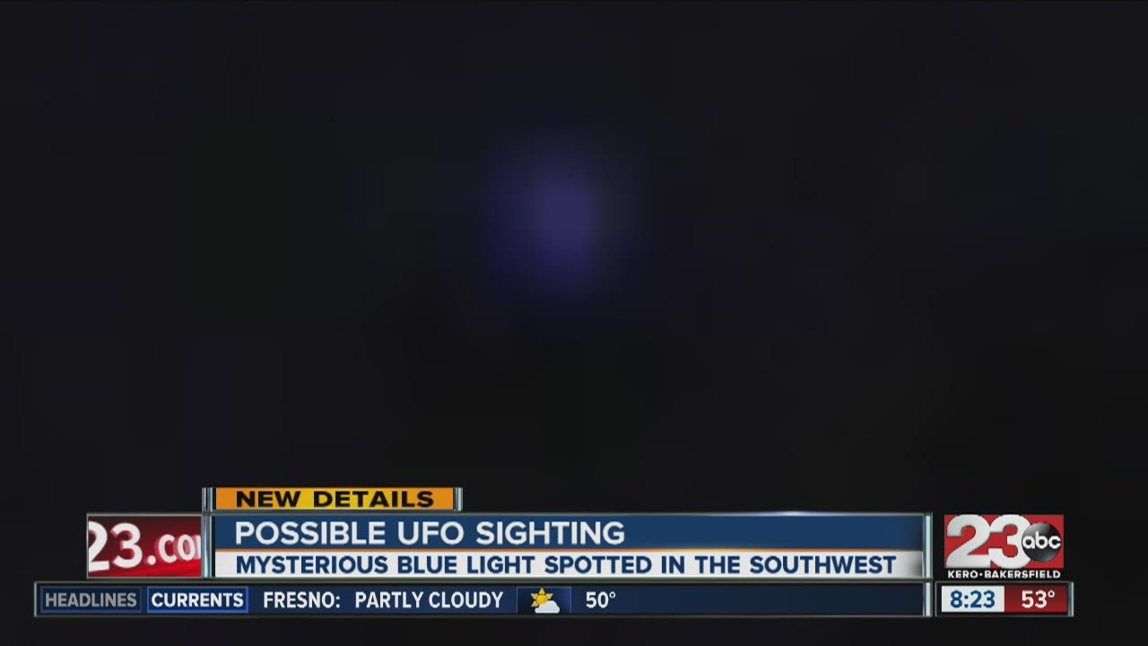 Possible UFO sighting in southwest Bakersfield