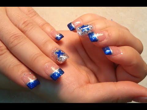 Dallas Cowboys Fan Nails Art Design Youtube