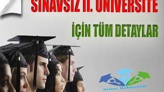 Sınavsız İkinci Üniversite Nedir?