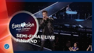 Finland - LIVE - Darude feat. Sebastian Rejman - Look Away - First Semi-Final - Eurovision 2019