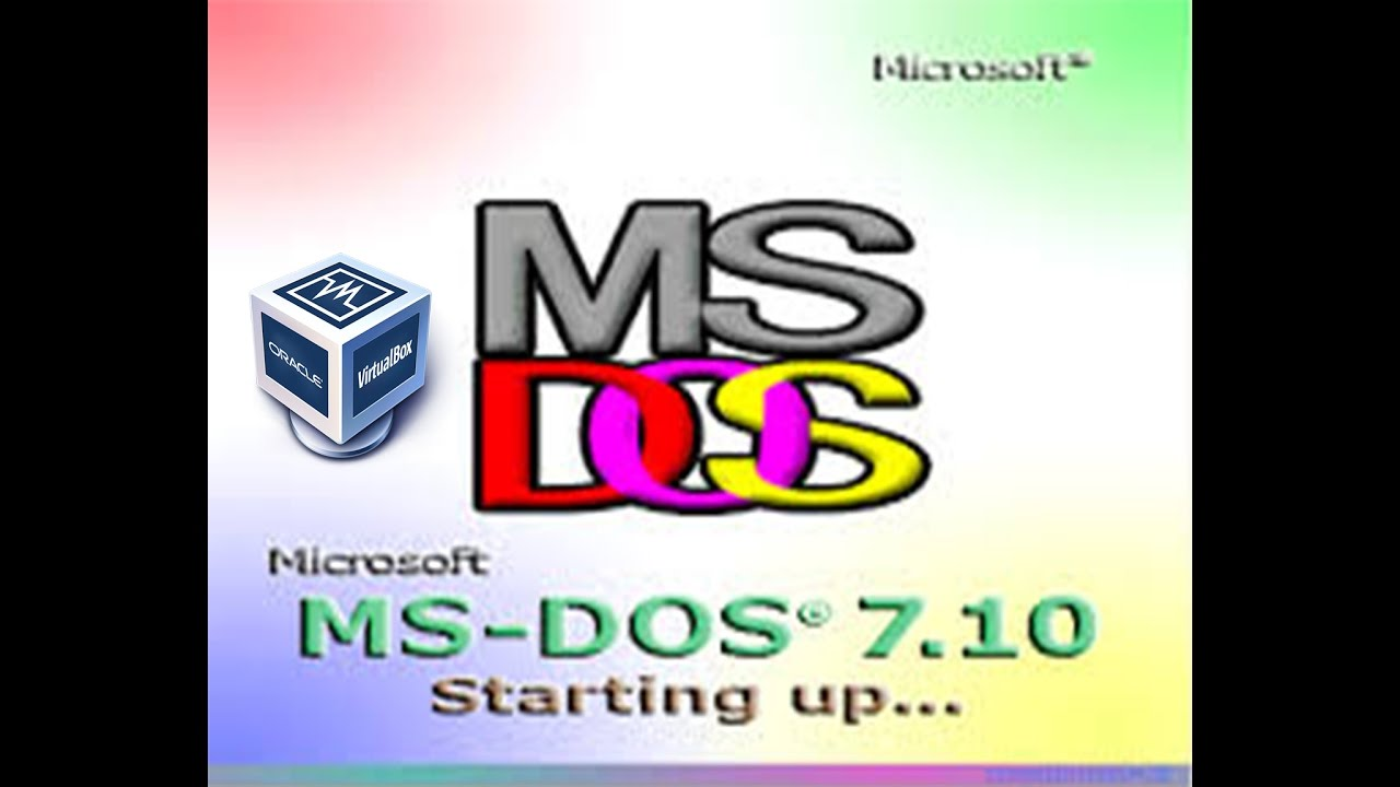 virtualbox ms dos image