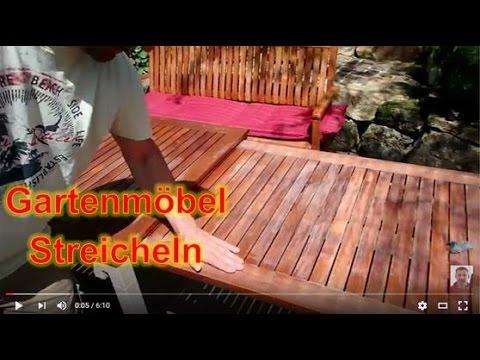 Teak Gartenmöbel Streichen Mit Teakholz öl Youtube
