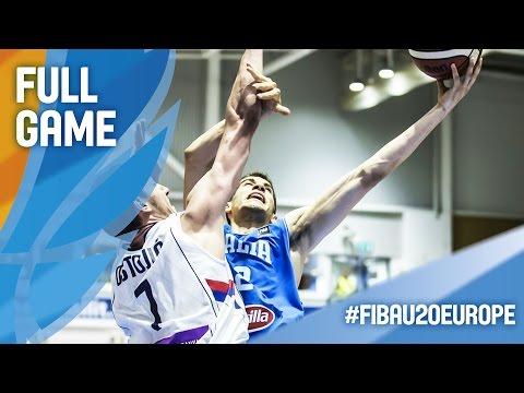 Serbia v Italy - Full Game - R16 - FIBA U20 European Championship 2016