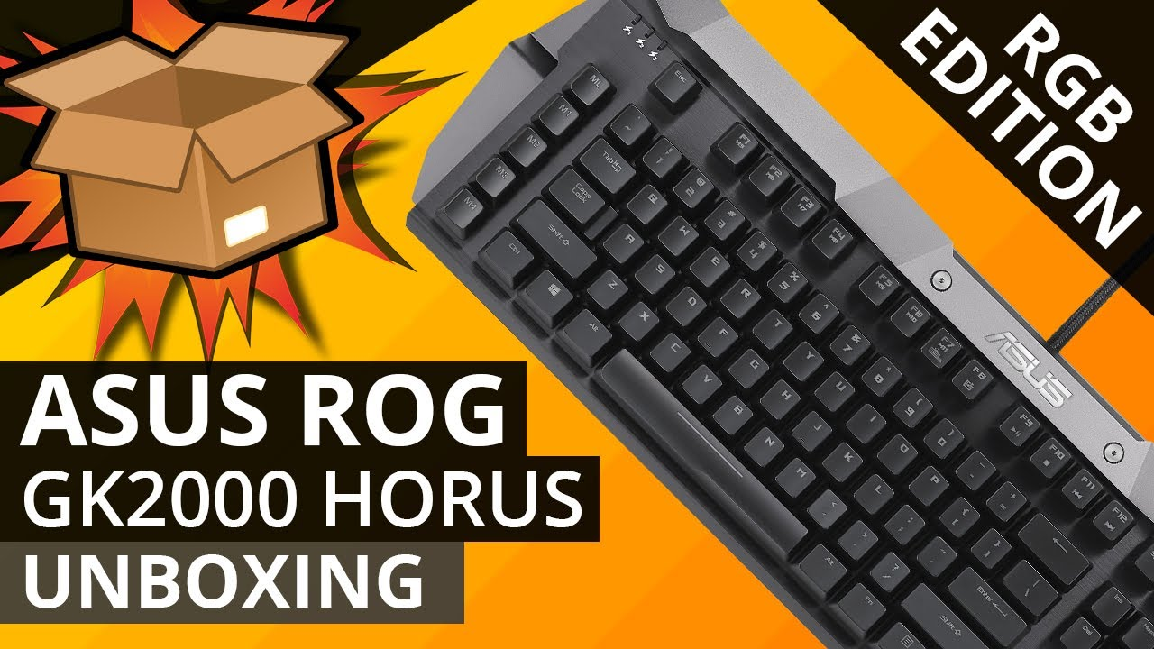 00ffd72325d The NEW ASUS ROG GK2000 HORUS RGB mechanical gaming keyboard - UNBOXING