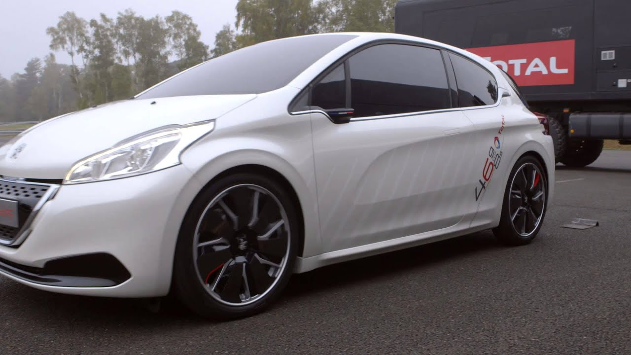 peugeot 208 hybrid fe concept driving footage - youtube