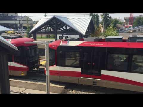 City Of Calgary C-Train At Banff Trail Station! New C-Train! Calgary Transit