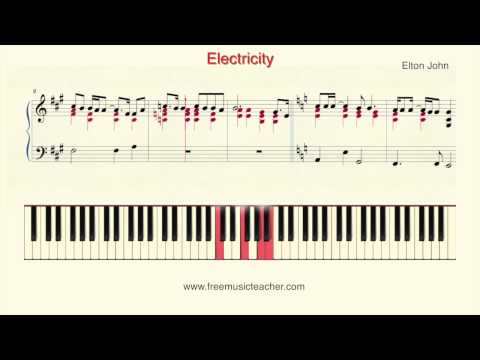 "How To Play Piano: Elton John ""Electricity"" Piano Tutorial by Ramin Yousefi"