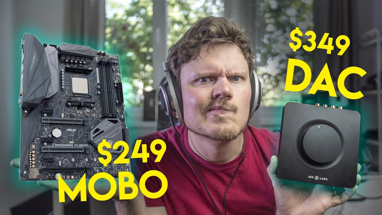 $349 Headphone AMP vs $249 On-board Sound    Who Wins???