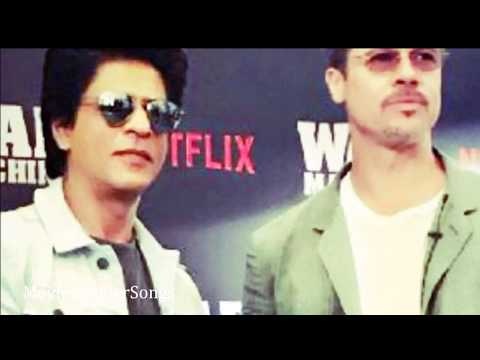 Shah Rukh Khan With Brad Pitt  Movie Premiere Press Conference for 'War Machine