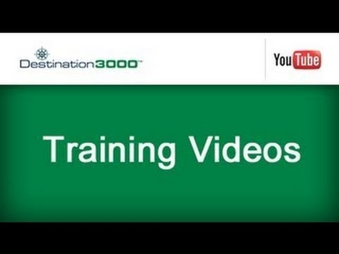 Destination 3000 Training Webinar Industry Partners Module Facility Details Tab