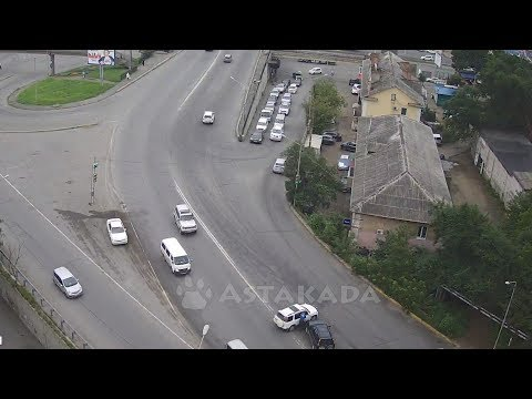 Владивосток ДТП Honda CR-V 21 августа Баляева ул. Котельникова Astakada