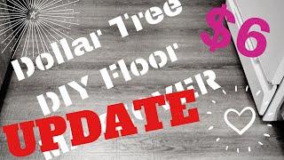 🚨 UPDATE ‼️   DOLLAR TREE RENTAL HACK   DIY UPGRADE   REMOVABLE FLOORING   INEXPENSIVE DECOR IDEAS