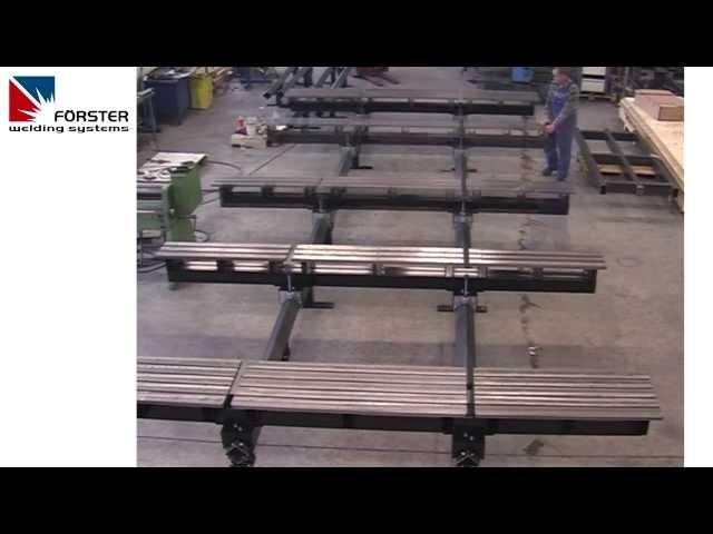 WELDING TABLES ON RAILS - SCHWEISSTISCHE AUF SCHIENEN - 3D SCHWEISSTISCH SYSTEM