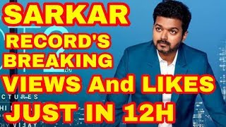 Sarkar Teaser Records Breaking Views and Likes on youtube Just in 12Hours   Thalapthi Vijay