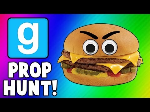 Thumbnail: Gmod Cheeseburgers, Scarecrows, and Axes (Garry's Mod Prop Hunt Funny Moments)