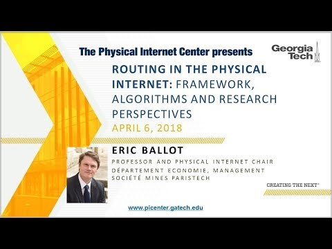 Routing in the Physical Internet  Framework, Algorithms and Research Perspectives