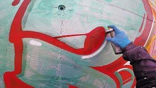 Graffiti - Rake43 - Green Metal