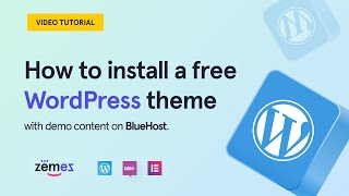 How to install a free WordPress theme with demo content