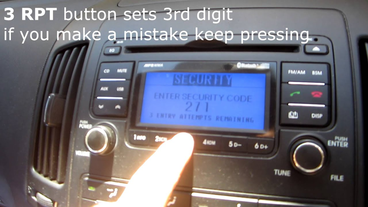 I30 2008 guide setting the radio code on a hyundai i30 fandeluxe Image collections
