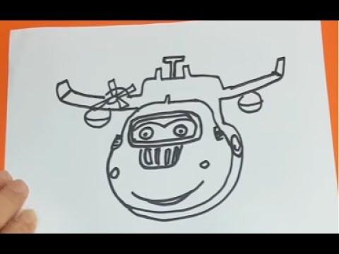 Harika Kanatlar Donnie Doni Ve Jumbo Cizimi Superwings Donnie