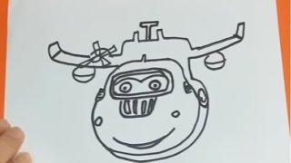Gambar cover Harika Kanatlar Donnie(Doni) ve Jumbo Çizimi - SuperWings Donnie Draw