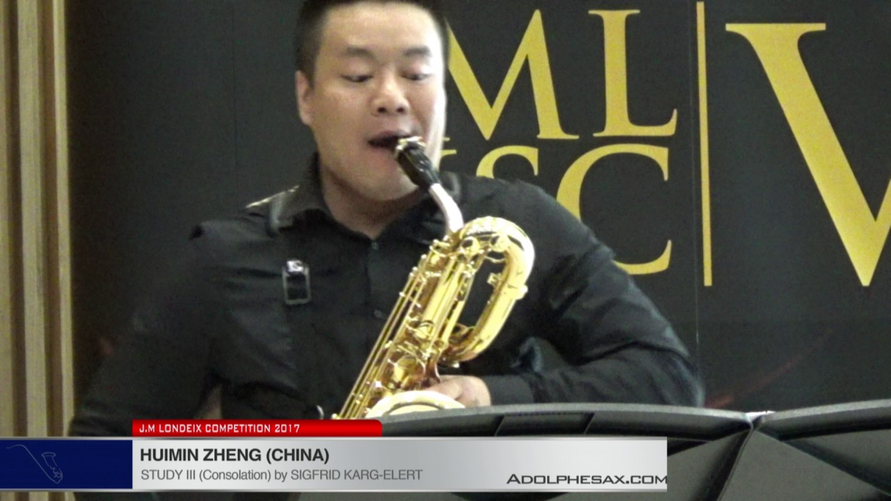 Londeix 2017 - Huimin Zheng (China) - III Consolation by Sigfrid Karg Elert