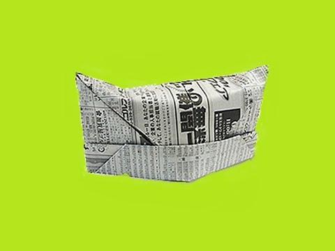 Origami para principiantes   5 Como hacer un gorro de enfermera de ... ed8e0a998d9