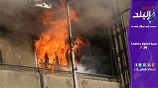 حالة ذعر تصيب أهالي منشية الصدر بسبب حريق شقة سكنية.. فيديو