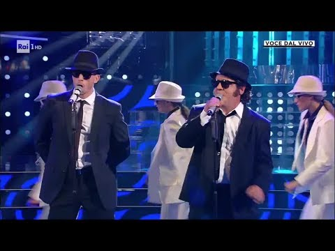 """The Blues Brothers-Pannofino Canta """"Everybody Needs Somebody To Love"""" - Tale E Quale Show 11/10/2019"""