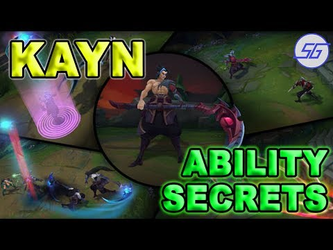 Kayn Ability SECRETS Detailed + Tips | League of Legends