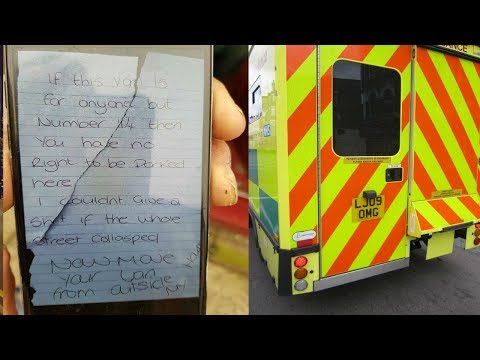 An Ambulance Responded To A 911 Call  Then They Found An Abusive Note On Their Vehicle