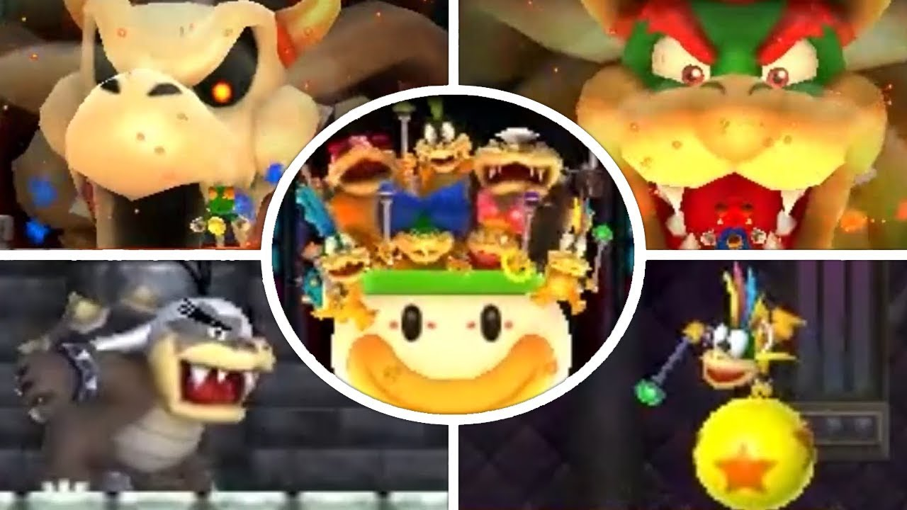 New Super Mario Bros 2 All Bosses Youtube