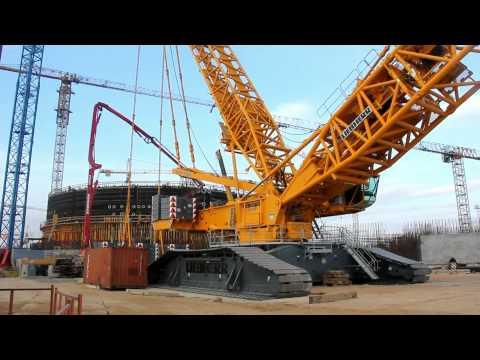 """Монтаж крана """"Liebherr-11350"""" на строительной площадке Белорусской АЭС"""