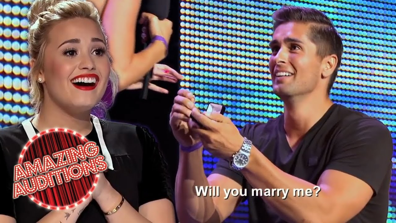 Most ROMANTIC PROPOSALS on Got Talent, X Factor and Idol | Amazing Auditions