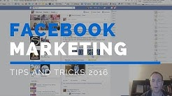 Facebook Marketing Tips 2016 | 1 Secret but Powerful Facebook Marketing Tip