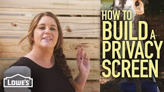 How to Build a Privacy Screen (w/ Monica from The Weekender)