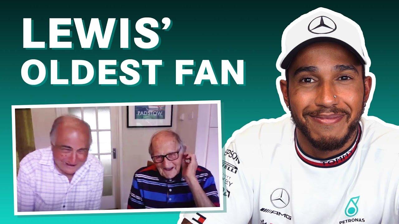 Lewis Hamilton Meets His Oldest Fan! 👏
