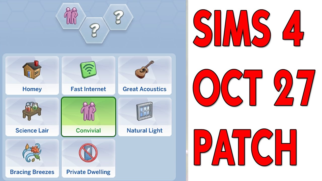THE SIMS 4 | OCTOBER 27TH PATCH | LOT TRAITS!