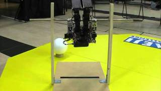Japanese Robot  JO-ZERO carries out an iron bar