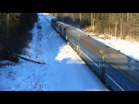 ТЭП70-0313 с поездом №662 Брест-Коммунары