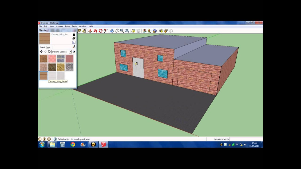 Comment faire une maison sur google sketchup youtube for Plan maison google sketchup