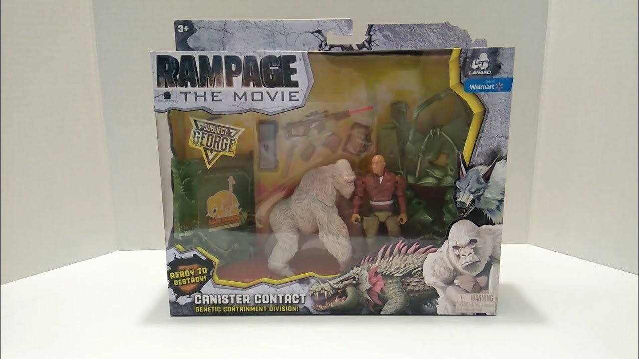Rampage NEW Play Set Action Figure George Movie Canister Contact