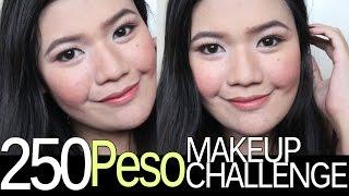 250 peso 5 makeup challenge version 2   makeupbykarlamisa