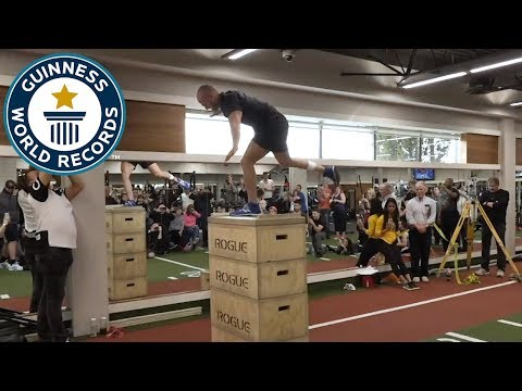 Highest standing jump with one leg - Guinness World Records