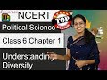 NCERT Class 6 Political Science / Polity / Civics Chapter 1: Understanding Diversity | English