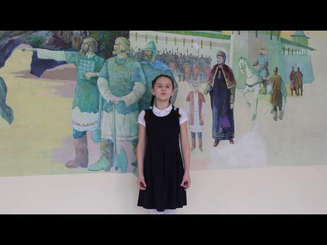 Изображение предпросмотра прочтения – ДарьяГаврилова читает произведение «Нивы сжаты, рощи голы…» С.А.Есенина